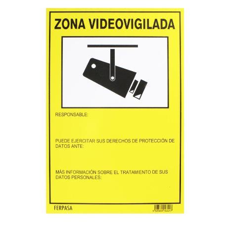 CARTEL 21X29.7 CM ZONA VIDEOVIGILADA 8321