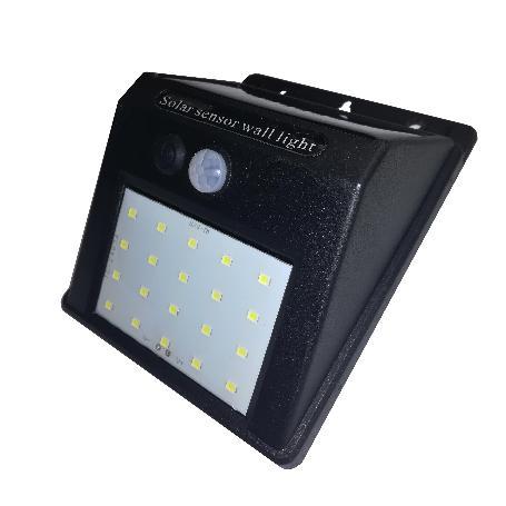 APLIQUE SOLAR 3W T8G LAMPLUS NEGRO SENSOR